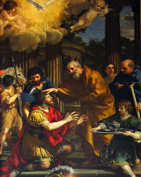 A painting (c.1631) by Pietro da Cortona - the restoring of sight to St. Paul